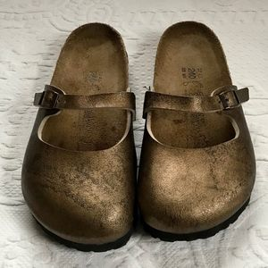 Birkenstock Mules antique gold size 37 NWOT